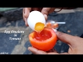How To Cook An EGG Omelette In A Tomato / Rare Recipe / Tomato OMELET / village food