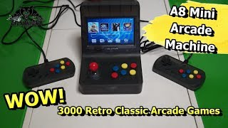 A8 Retro Arcade Game Console Gaming Machine 3000 Games