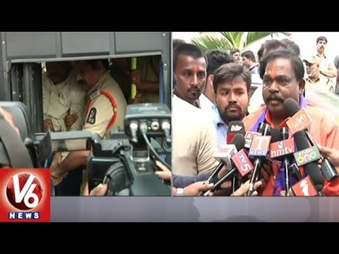 Hindu Activists Protest Against Police Department At Swami Paripoornananda's House | V6 News