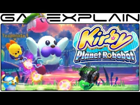 Kirby: Planet Robobot - Team Kirby Clash Gameplay (60 fps 3DS Direct Feed)