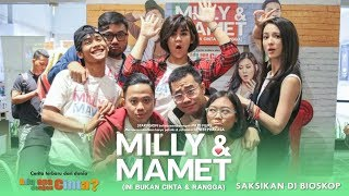 Download Lagu MILLY & MAMET (Ini Bukan Cinta & Rangga) - Nobar Di Depok & Media Visit Gratis STAFABAND