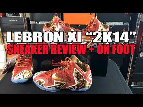 NBA2k14 Nike Lebron 11 (XI) Review & On Foot (Why Tiger Print?)
