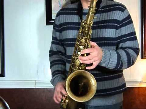1933 Conn Transitional Tenor Sax 258,xxx