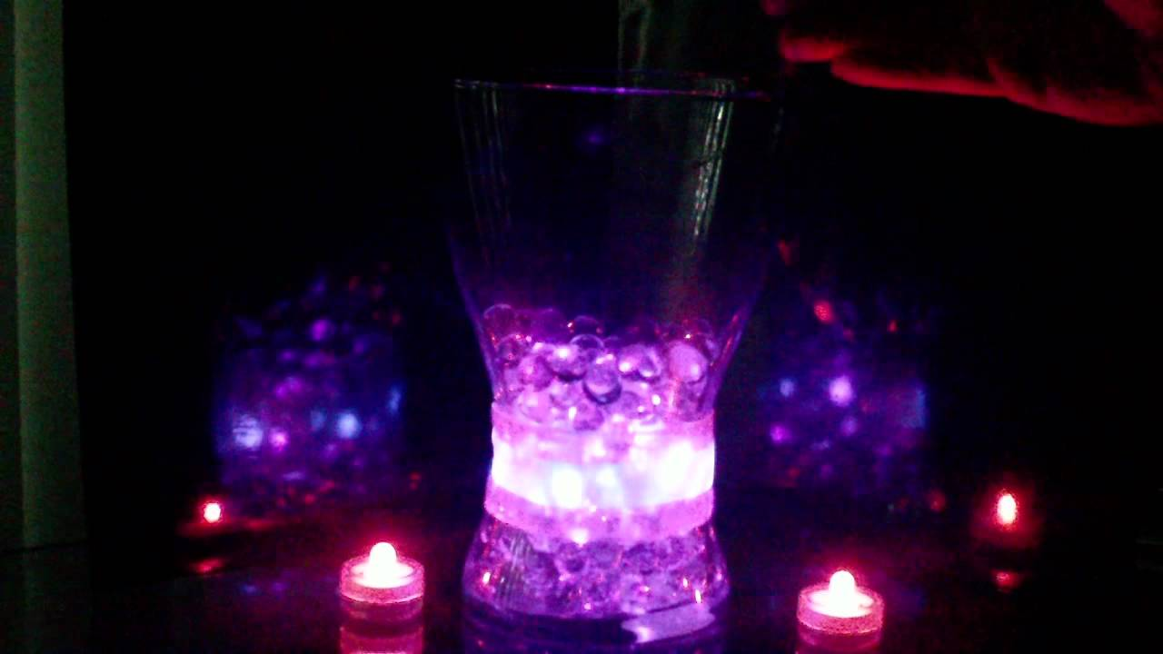 Affordable Glowing Centerpieces - YouTube