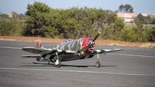 "Don Rice's Large Scale P-47 Thunderbolt ""Miss Behave"" Flight at MRCF"