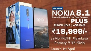 Nokia 8.1 Plus FIRST LOOK | Nokia 8.1 Plus Price, Specifications, Release Date in INDIA |
