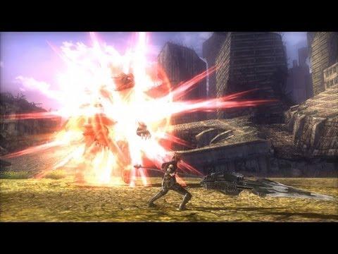 PSP/PS Vita「GOD EATER 2」 チャージスピア 必殺技紹介映像