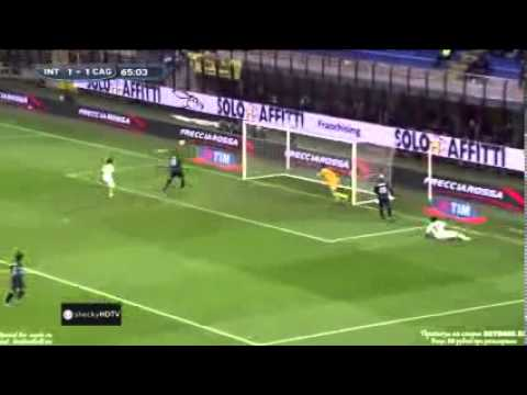 Inter - Cagliari 2-2 All Highlights & Goals   HD (18 11 12)