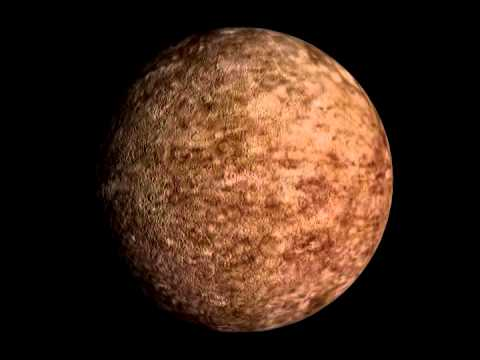 Rotation 3D de Titania, satellite de la planète Uranus