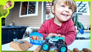 Monster Trucks In Kinetic Sand
