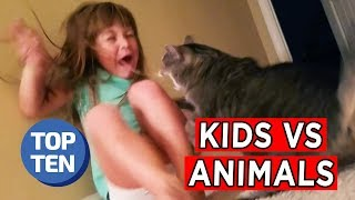 Top 25 Kids vs. Animals Moments | Ultimate Funny Pets Fails Compilation March 2018 | Top 10 Daily