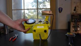 Quick demonstration of 3 typical geiger counters