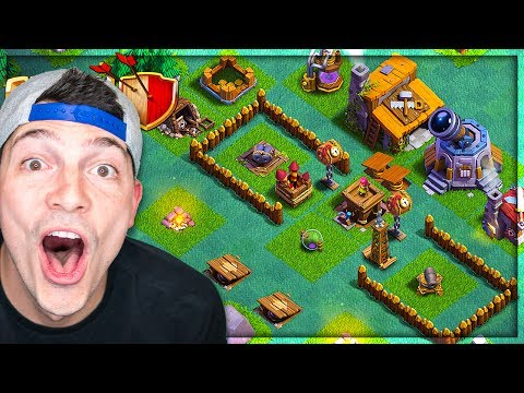 WORKING TROLL BASE! - Clash of Clans Builders Base Design