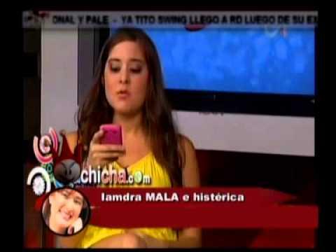 IAMDRA SACA EL BARRRIO Y HASTA INSINUA GOLPIZA