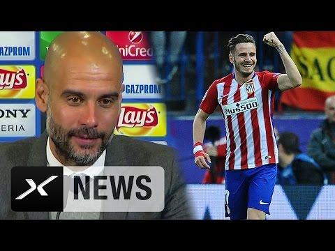 """Pep Guardiola: """"Saul Niguez nicht mit Lionel Messi vergleichen""""   Atletico Madrid - FC Bayern 1:0"""