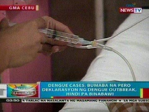 BP: Dengue cases sa Cebu, bumaba pero deklarasyon ng dengue outbreak, hindi pa binabawi