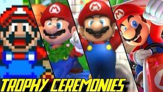 Evolution of Trophy Ceremonies in Mario Kart (1992-2017)