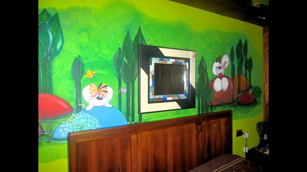 Decorazioni camerette per bambini murales i love - Idee per camera bambini ...