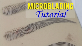 Microblading Eyebrows | Microblading Tutorial on How to Secure Your Template