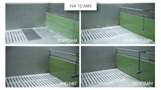 MS Topfoam versus Hypred-Clean, Ino-Net (Indufarm producten) en Kenosan.