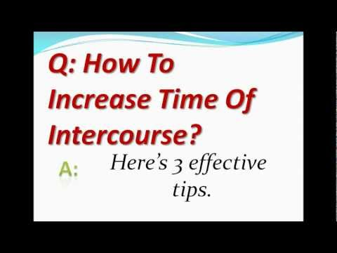 How To Increase Time Of Intercourse? video