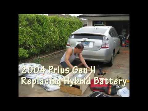 2004 Prius Replacing Hybrid Battery