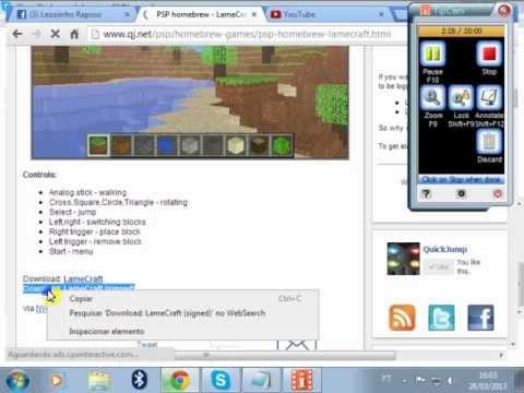 Como Baixar e Instalar o LameCraft no psp