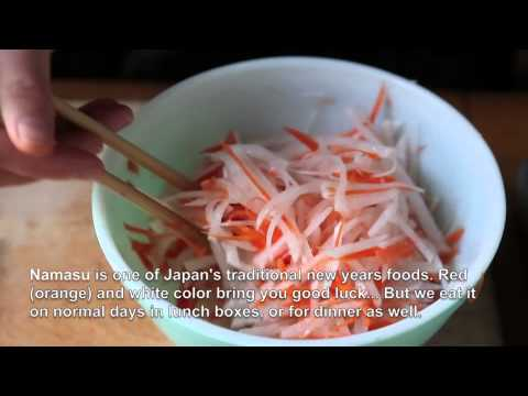 KOHAKU-NAMASU (Japanese radish & Carrot Pickles) by Vegetable Gohan