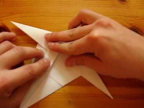 Фламинго схема оригами.