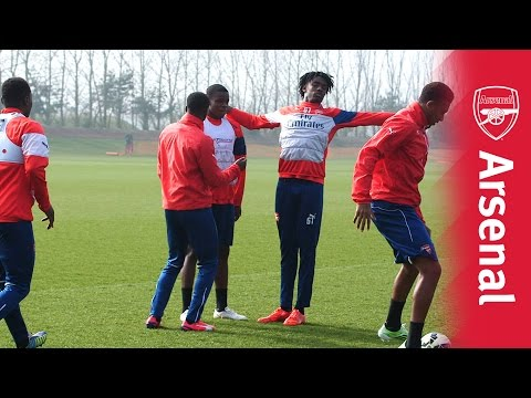 Arsenal under-21s' crossbar challenge