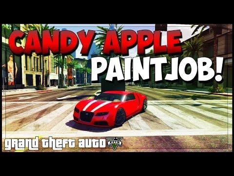 """GTA 5 Rare Paint Jobs"" - ""Candy Apple Red"" GTA 5 Modded Paint Jobs Online! (Secret Paints)"