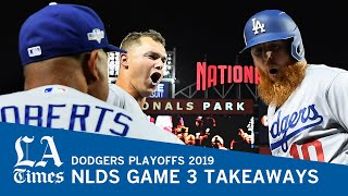 Dodgers bats come alive, take Game 3