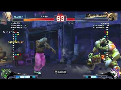 Amiyu (Gen) vs mikoenja (Zangief) AE2012 Endless Match *720p HD*