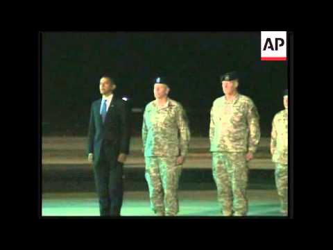 President Obama honours return of fallen soldiers from Afghanistan