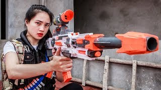LTT Nerf War : SEAL X with mission Attack enemy base criminal group by nerf guns