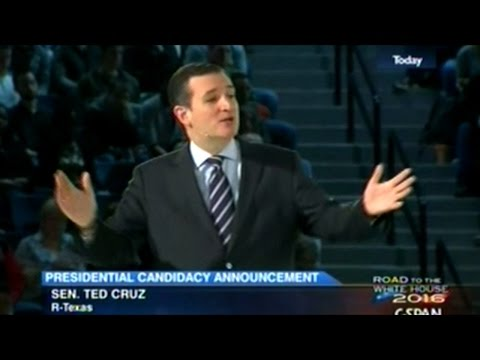 Canadian Born Ted Cruz Announces His Plans To Run For President Of The United States In 2016