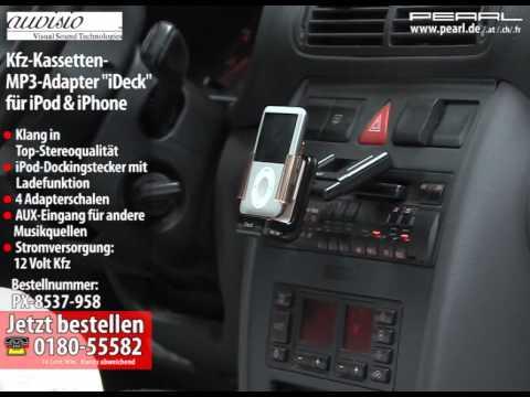 auvisio Kfz-Kassetten-MP3-Adapter für iPod & iPhone (refurbished)
