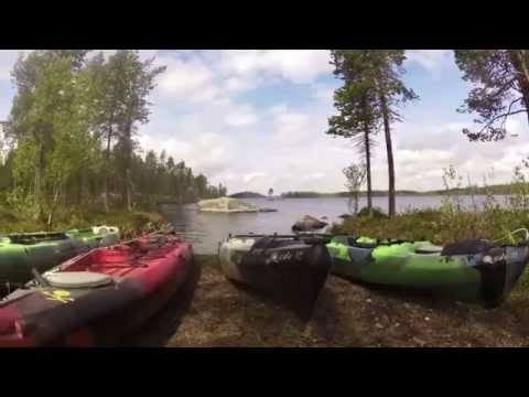 Kayak fishing for perch & pike, JK in Lapland 2014