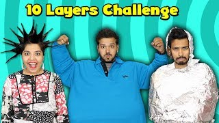 10 Layers Challenge | Funniest Challenge Hungry Birds