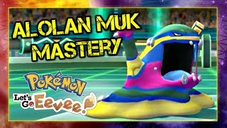 Pokemon Lets Go Pikachu and Eevee Singles Wifi Battle - Alolan Muk Mastery