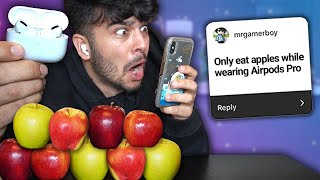 I Only Said YES to BAD VIDEO IDEAS for 24 HOURS! (IMPOSSIBLE FOOD CHALLENGE)
