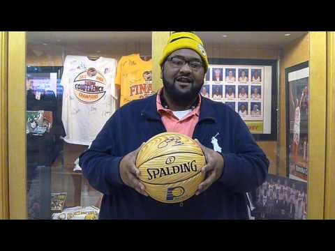 SmarTravel Winner Charles Surrett Paul George Autographed Basketball Indiana Pacers 12/31/14