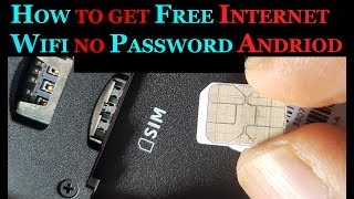 HOW TO GET FREE INTERNET NO PASSWORD ANDROID ANYWHERE