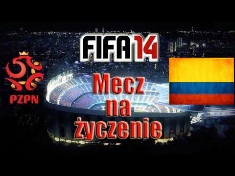 Mecz FIFA 14 Polska - Kolumbia Cały Mecz