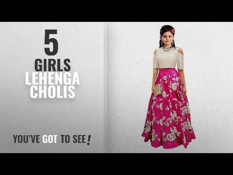 10 Best Girls Lehenga Cholis [2018 Best Sellers]: Leons Fab New Multi Color Girls Semi Stitched