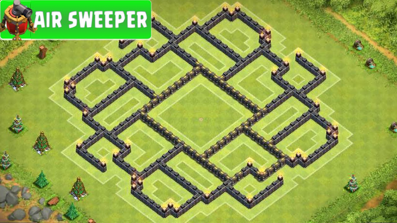 New Layout Th9 With Air Sweeper Sweeper | Th9 Base Layout