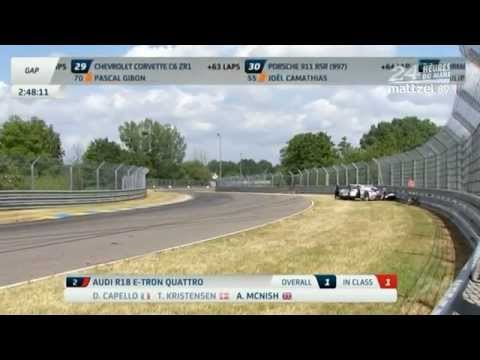 Allan McNish crashes while leading - Le Mans 24 Hours 2012