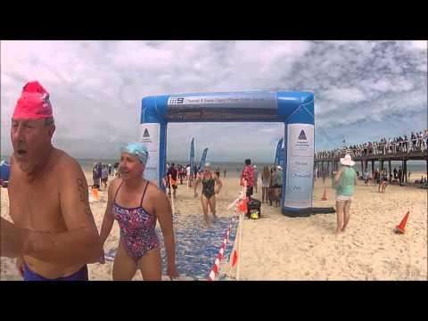 2016 Nine News Australia Day Jetty to Jetty Long Swim Finish