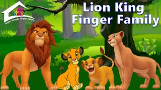 Lion king finger family - dady finger nursery rhyme -  Animals Daddy Finger Songs For Children