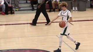 LaMelo Ball Calls Half Court Shot and Swishes It